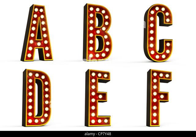 Alphabet-Set - Teil 1 Stockbild