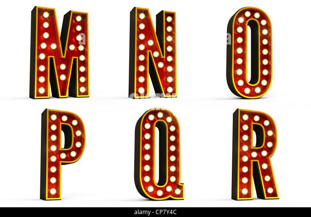 Alphabet-Set - Teil 3 Stockbild