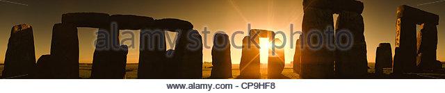 Antike, Architektur, Schönheit in der Natur, kreisförmige, Farbbild, Tag, fern, England, Umwelt, historische Stockbild