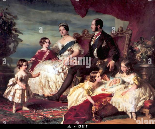 Familie von Königin Victoria Stockbild