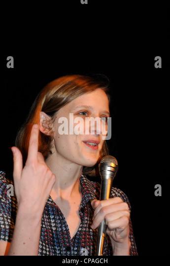 Mia Hansen-Løve französische Schauspielerin, Drehbuchautorin und Regisseurin, besuchen Sie Barcelona Stockbild