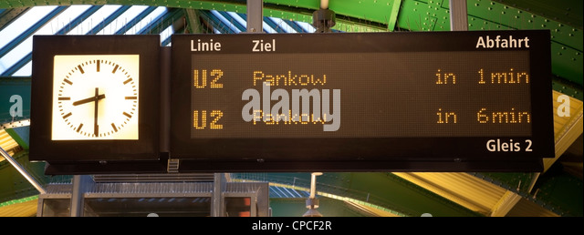 U Bahn Zeichen Stockbild
