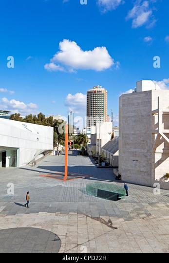Außenseite des Herta und Paul Amir Neubau des Tel Aviv Museum of Art und Central Library Building, Tel Aviv, Stockbild