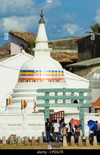 Shri Sudarmalaya buddhistischen Tempel innerhalb des alten niederländischen Forts, bekannt für seine koloniale Stockbild
