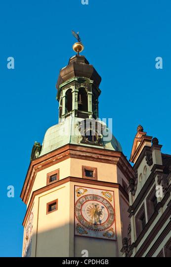 Altes Rathaus (Town Hall), Leipzig, Sachsen, Deutschland, Europa Stockbild