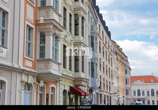 Nahaufnahme des alten Dresden Häuser, Dresden, Sachsen, Deutschland, Europa Stockbild
