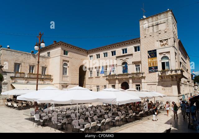 Nadbiskupski Graditeljski Sklop (architektonische Komplex des Erzbischofs), Zadar County, Region Dalmatien, Kroatien, Stockbild