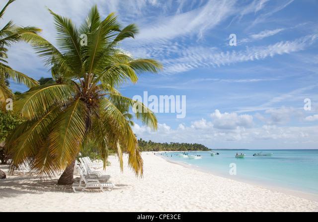 Isla Saona, Dominikanische Republik, Karibik, Karibik, Mittelamerika Stockbild
