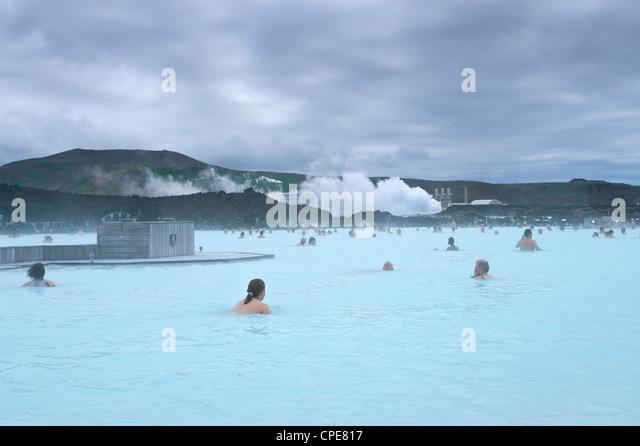 Blue Lagoon Resort, Svartsengi, Island, Polarregionen Stockbild