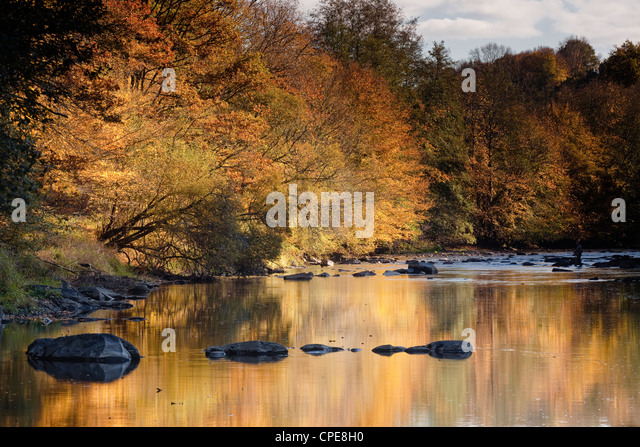 Flusses Creuse, einer bevorzugten Gegend des Flusses der Künstler Claude Monet, Limousin, Frankreich Stockbild