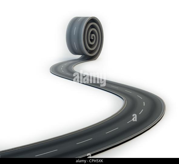 Straße, Roll-out - eine Verbindung Stockbild