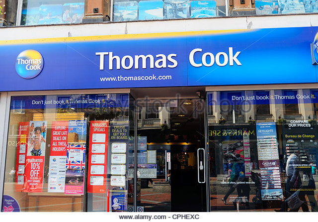 Thomas Cook Reisebüros in Reading, Berkshire, UK Stockbild