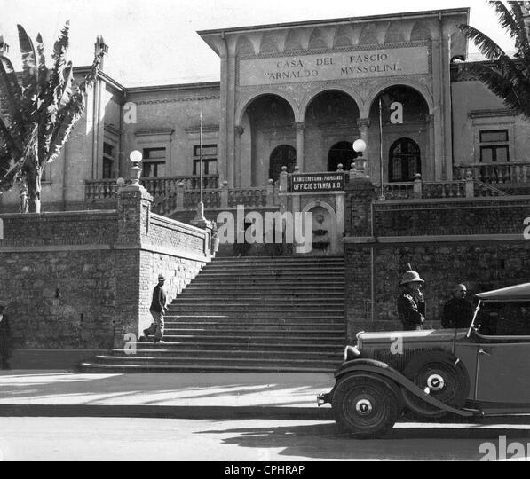 """""""Casa del Fascio"""" in Äthiopien in den 30er Jahren Stockbild"""