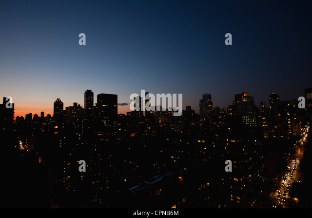 USA, New York, New York City bei Nacht Stockbild