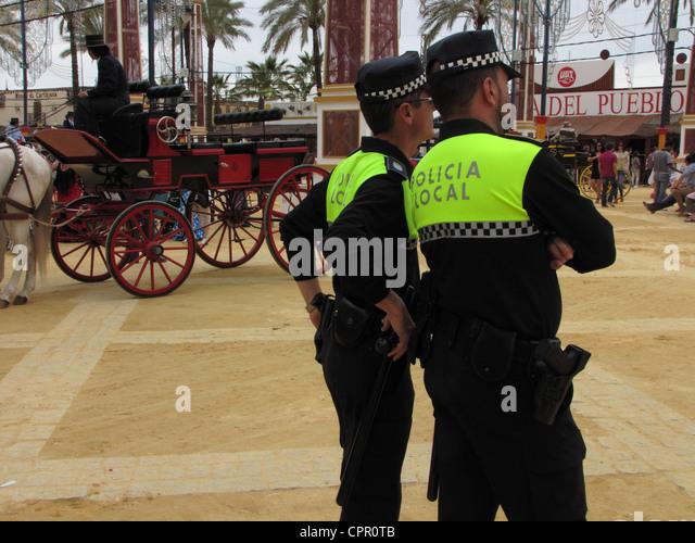 Spanien-Andalusien-Jerez De La Frontera kann Horse Fair Feria Caballo Warenkorb parade Stockbild
