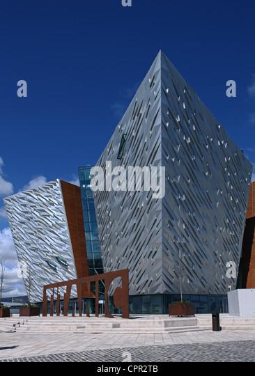 Titanic Belfast Besucherzentrum Stockbild