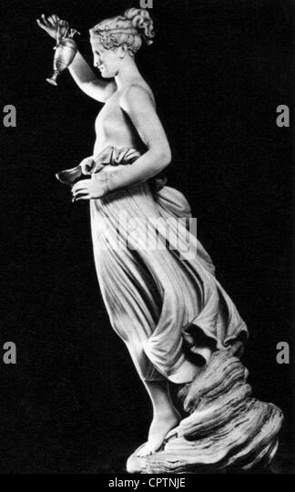 Hebe (lateinisch: Iuventas), griechische Göttin der Jugend, Skulptur von Antonio Canova (1757-1822), 1800-1805, Stockbild