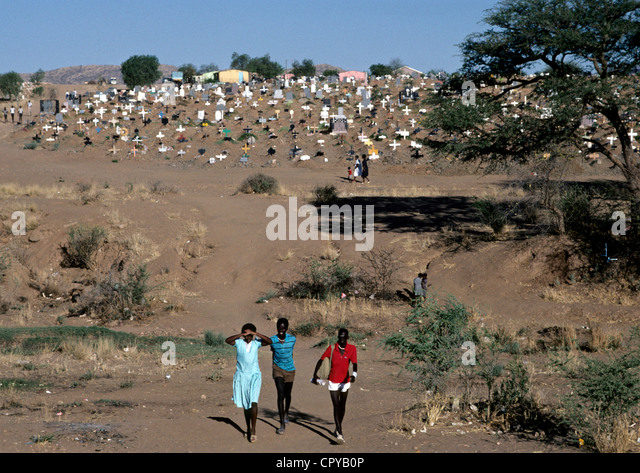 Namibia, Windhoek, Township Katutura Stockbild