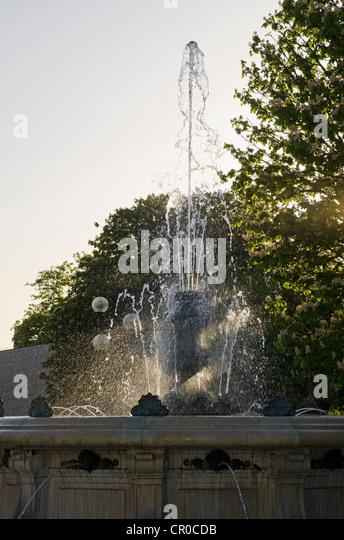Brunnen außerhalb Southampton Kunstgalerie Stockbild