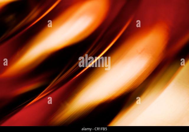 Nahaufnahme des farbigen Glases. Abstraktes Bild mit einer hohen Vergrößerung-Makro-Objektiv aufgenommen. Stockbild