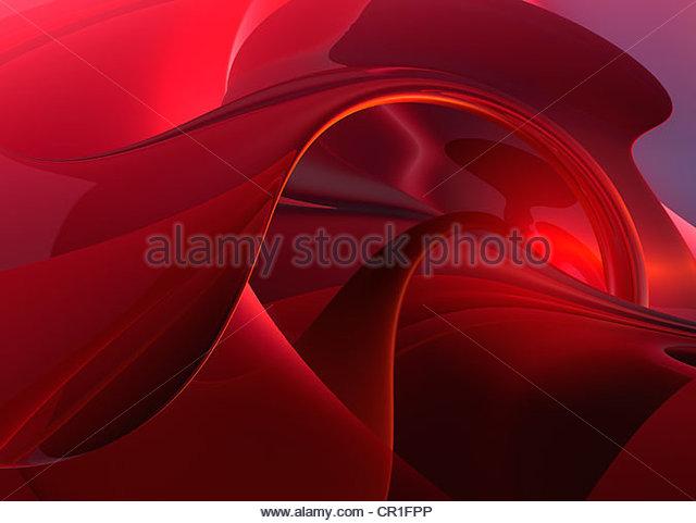 Abstrakt generiert Digital rot Hintergründe Stockbild