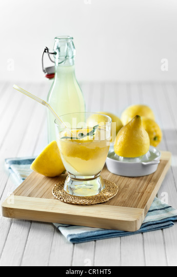 Hausgemachte Limonade Lemon squash Stockbild