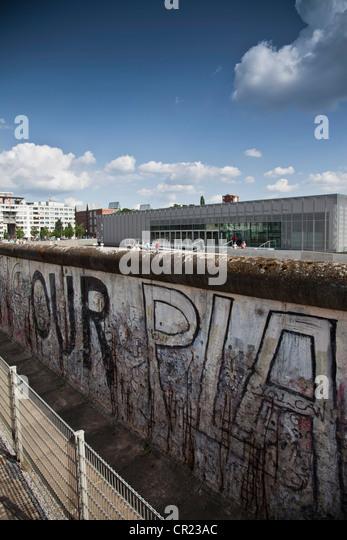 Graffiti auf der Berliner Mauer Stockbild