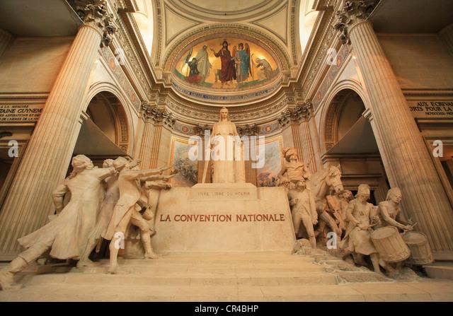 Das Pantheon, das Quartier Latin, Paris, Frankreich Stockbild