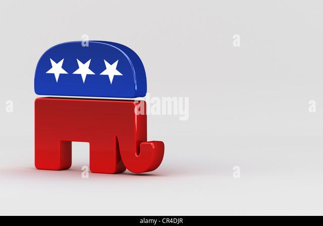 Republikanische Elefant, Maskottchen der Republikanischen Partei, USA Stockbild