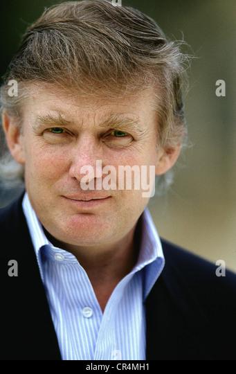 Trump, Donald, * 14.6.1946, US-Geschäft Magnat, Porträt, Palm Beach, 1992, Stockbild