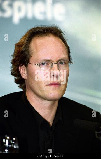 Klein, Andreas, deutscher Filmproduzent, Porträt, International Film Festival, Berlin, 8.2.2001, Pressekonferenz, Stockbild