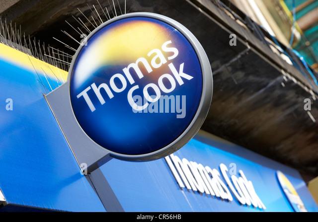 Thomas Cook Reisen Ladengeschäft im Vereinigten Königreich Stockbild