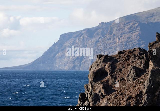 Sterben Sie die Höchste Steilküste Europas Los Gigantos Stockbild