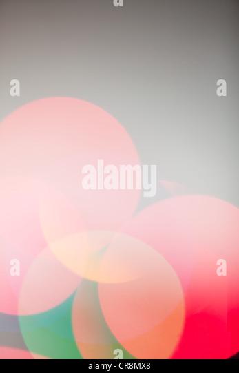 Defokussierten Multi farbige Lichter, Nahaufnahme Stockbild