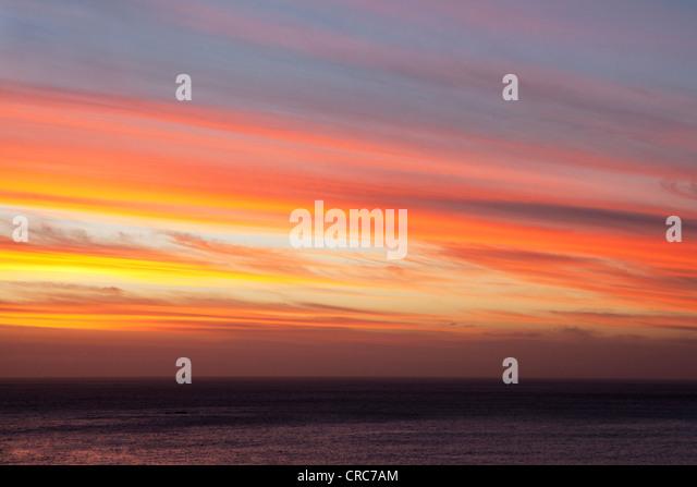 Lebendige Farben Sonnenuntergang Himmel Stockbild