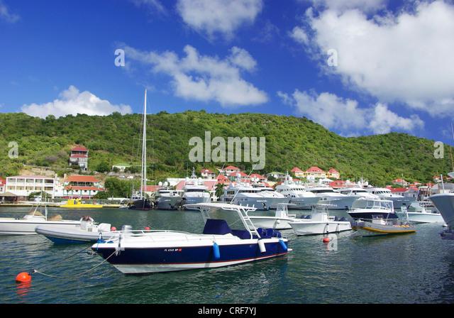 St. Barth, Gustavia, Franzoesiche Antillen, Saint Barth lmy Stockbild