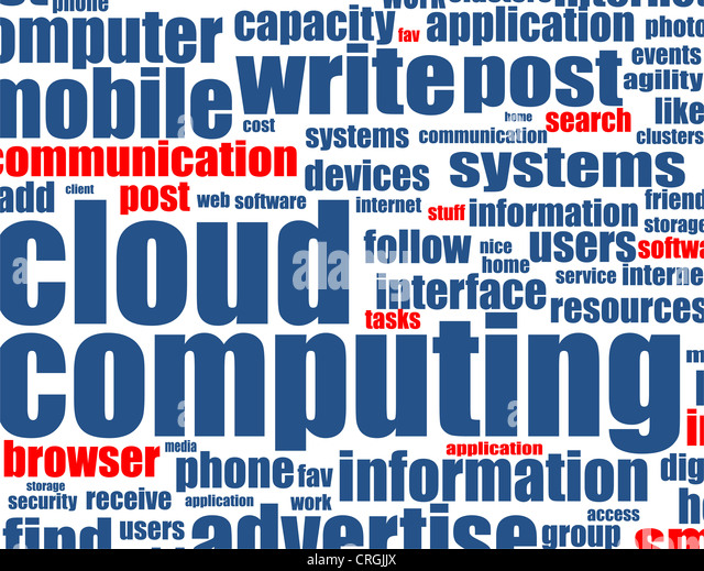 Cloud-computing - word-Hintergrund Stockbild