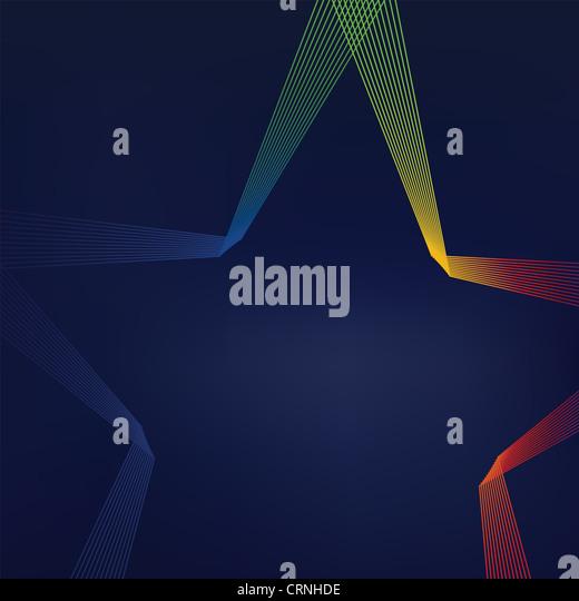 Bunte sternförmige Linien abstrakten Hintergrund Stockbild