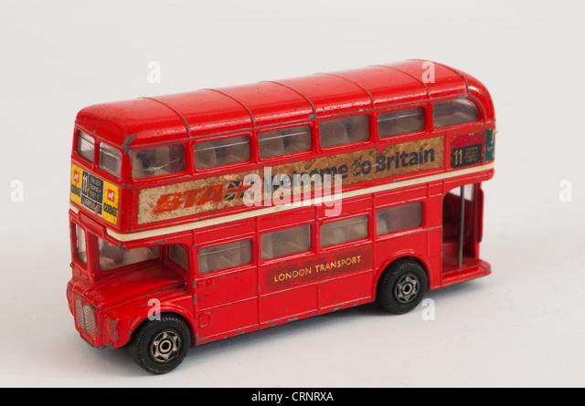 Corgi London Transport Spielzeug Diecast Busreisen Öffentlichkeit - Stock-Bilder