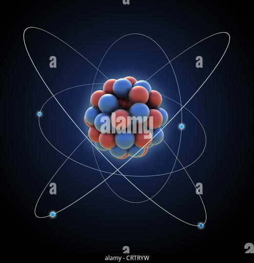 Atom - Computer generierte Abbildung Stockbild
