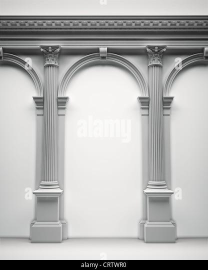 Klassischen korinthischen portal Stockbild