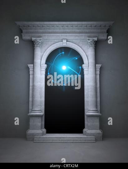 Geheimnisvolle magische portal Stockbild