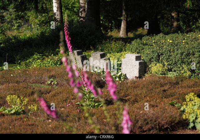 Deutschland, Bayern, Flossenbuerg, Ansicht der KZ-Gedenkstätte Stockbild