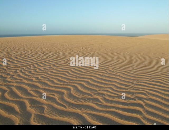 Wellen im Sand dunes Stockbild
