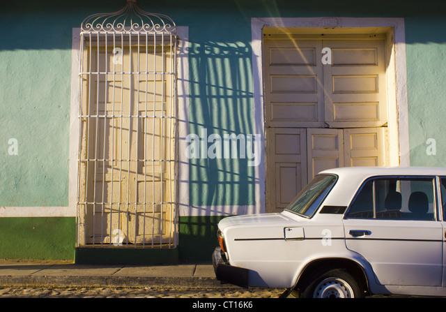 Tür-Tor-Schattenwurf Stockbild