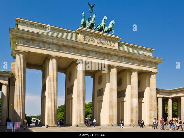 Brandenburger Tor, Pariser Platz Berlin Deutschland EU Europa Stockbild