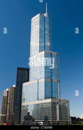 Der 90-geschossige Trump Tower in Chicago, Illinois, USA. Stockbild