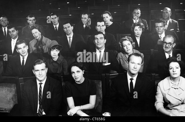 Menschen in Theater, Film Stockbild