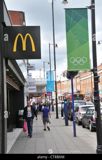 McDonald's Olympia sponsor Sponsoring London 2012 Olympics Worldwide Partner Stockbild