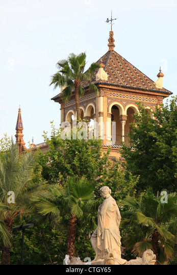 Spanien, Andalusien, Sevilla, Puerta de Jerez, Hotel Alfonso XIII, Stockbild